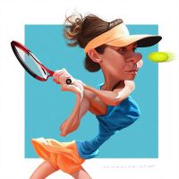 Simona Halep by markdraws