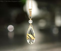 *Venus Hair* Golden Rutilated Quartz pendant by Arctida