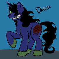 My first true MLP OC: Daren the Shadow Pony by catlover1672