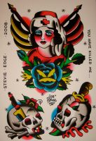 tattoo flash 2008 by xveganmafiax