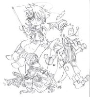 Kingdom Hearts - HWsketch by SakuraCherrie