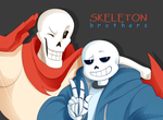 Skeleton Bros by alpakami