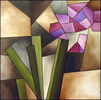 Cubist flowers by alicia-lee