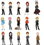 Characters of HP by MG-foxie