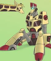 TFA - Giraffes and Giraffebots by Rosey-Raven