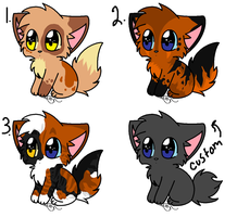 Chibi kitten adoptables by leafstep