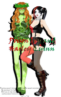 [MMD][DL] Poison Ivy and Harley Quinn by AlionaLawliet