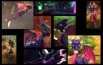 Cynder Collage by StarGriffin