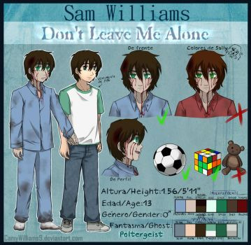 Sam Williams - Profile Sheet by CamyWilliams9
