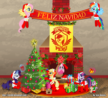 Merry Christmas Bronies Peru by JcosNeverExisted