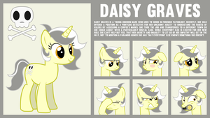 MLP OC Bio and Expressions : Daisy Graves by outlaw4rc