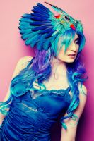 Blue Angel Headdress by serpentfeathers