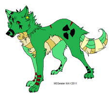 Toxic dog adopt -closed- by Riukis-adopts