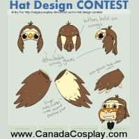 Cute Owl hat and glove combo CONTEST ENTRY by Kaci-Star