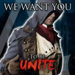 Arno wants you to be unite by eyes1138