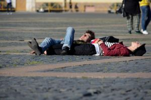 Sleeping on Palace Square by Artculpit