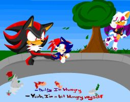 Shadow,Shadic and Rouge by XRainbowIceCreamX