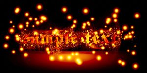 Hot sparkling text by Player-Designer