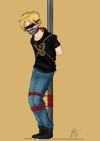 Jaune Arc Blindfold by BlackJacke7