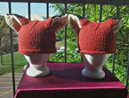 Kitsune Hats by aetherfang