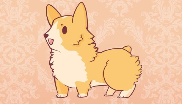 Fluffy Butt Arts Corgi by PeopleEveryday