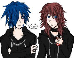 Zexion+Marluxia by karuxia