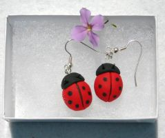 Ladybug Earrings by NycterisA