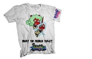 Scanty and Kneesocks T-shirt Concept-White by lemursrule1