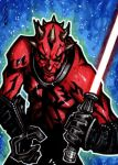 Darth Maul - Star Wars - Sketch Card by J-Redd