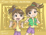 iDOLMASTER - Futami Birthday by iTiffanyBlue