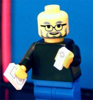 STEVE JOBS AS A LEGO MAN by Archykins
