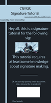 Crysis Signature Tutorial by Mornothly