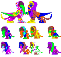 Faceless Griffons Adopts - CLOSED by SchattenspielRex