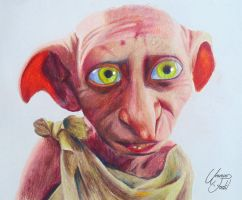 Dobby - Colored pencils by f-a-d-i-l