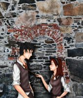James Potter and Lily Evans by nelsonaof