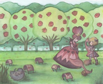 Croquet with the Queen of Hearts by DirenKei