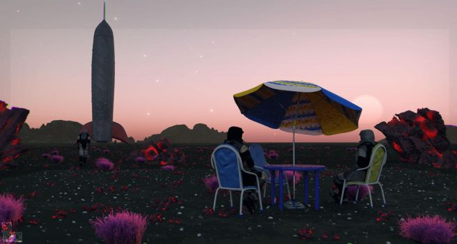 Sunset On Planet X by MDO2010