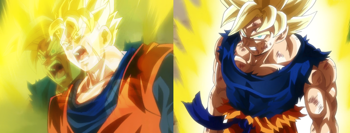 DBZ: Father and son - Future Goku and Future Gohan by Legend-tony980