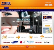 BHB website mockup by projectDC