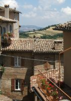 Roofs, balconies, perspective by mirator