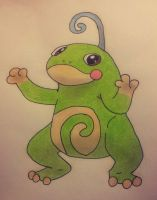 Politoed Drawing by Krayzieee