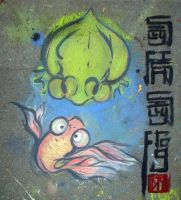 Silly Fish, Silly Frog by zelas