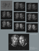 Good old friend: Ian Mckellen and Patrick Stewart by Thubakabra