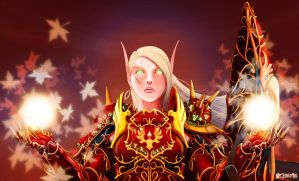 Blood Knight Roza casting by lazyseal8