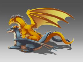 Twin Dragon by fcaiser