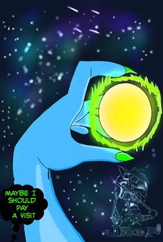 Someone New is coming/ shooting star by Justicewolf337