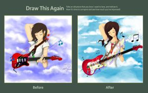 Draw This Again Challenge: The Guitarist by sweetieamy