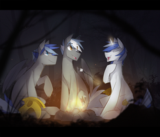 Royal guards campfire by Keponii