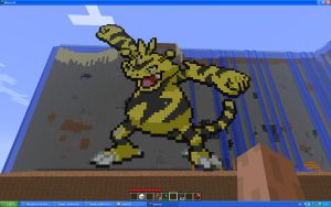 Electabuzz On Minecraft by Miccopicco