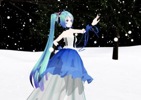 [MMD] Fall into the Invisible Darkness +Vid Link by SapphireRose-chan